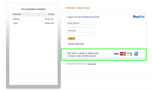 14 - Placing an order at PayPal without a PayPal account 1